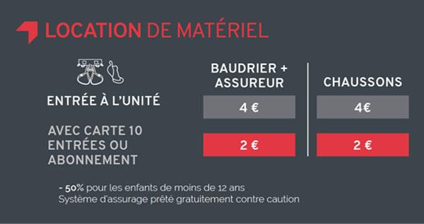 Location matériel escalade Climb Up Lyon Confluence